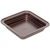 Форма для выпечки квадратная, стальная, антипригарная, 24х24х5 см, NADOBA, серия LIBA