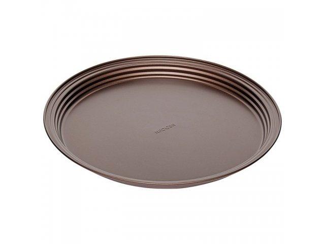 Форма круглая для пирога/пиццы, стальная, антипригарная, 34х2,8 см, NADOBA, серия LIBA