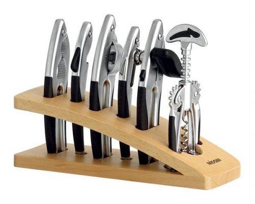 Набор кухонных инструментов NADOBA серия UNDINA матовый хром 7 предметов