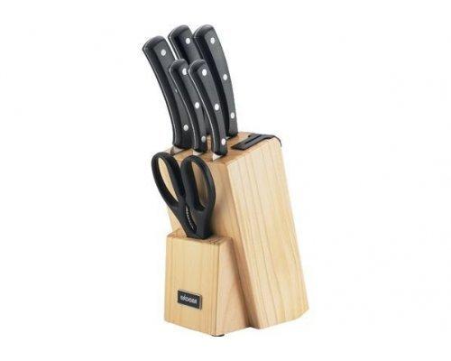 Набор из 5 кухонных ножей и блока для ножей с ножеточкой NADOBA серия HELGA