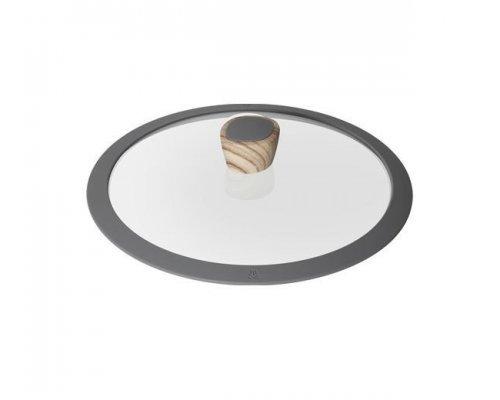 Стеклянная крышка с силиконовым ободом, 26 см, NADOBA серия MINERALICA