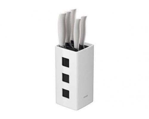 Набор из 5 кухонных ножей с универсальным керамическим блоком NADOBA серия BLANCA
