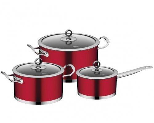 Набор наплитной посуды из нержавеющей стали, 6 пр. NADOBA серия CERVENA