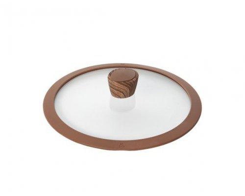Стеклянная крышка с силиконовым ободом, 24 см NADOBA серия GRETA&10;