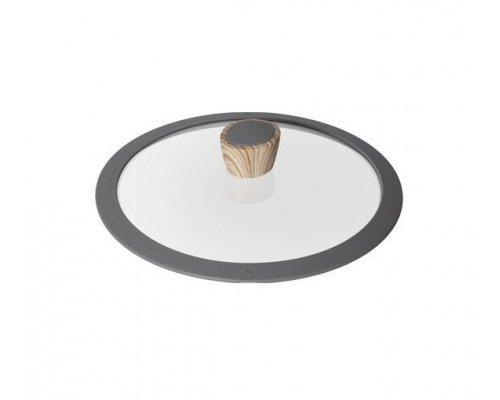 Стеклянная крышка с силиконовым ободом, 24 см, NADOBA серия MINERALICA