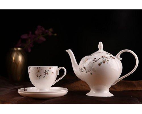 """Чайный сервиз Royal Aurel """"Магнолия"""" на 6 персон 15 предметов арт. 104"""