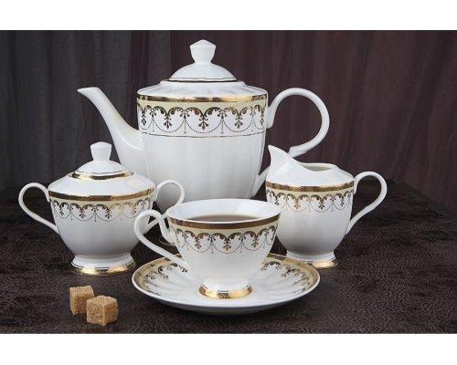 """Чайный сервиз Royal Aurel """"Империал"""" на 6 персон 15 предметов арт. 131"""