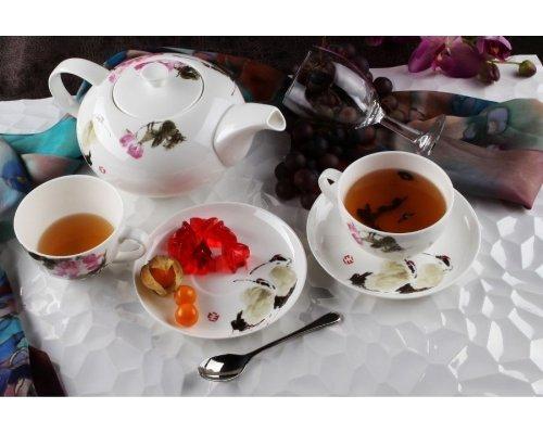 """Чайный сервиз Royal Aurel """"Дикая роза"""" на 6 персон 13 предметов арт. 140"""