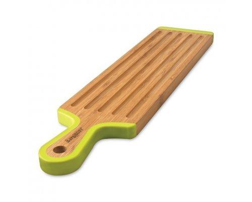 Доска разделочная бамбуковая с силиконовыми накладками 43*10*1,5см (узкая) Studio