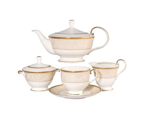 Сервиз чайный Narumi Ноктюрн золотой на 6 персон 17 предметов