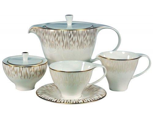 Сервиз чайный Royal Bone China Голден Глоу на 6 персон 17 предметов