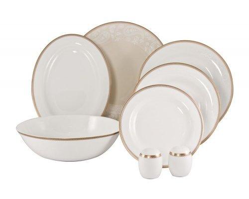 Сервиз столовый Золотая вышивка Royal Bone China на 6 персон 21 предмет