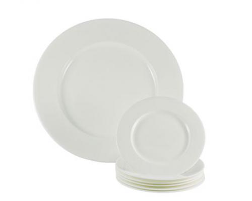 Набор для торта Белая линия Nikko 7 предметов: 6 тарелок 16,5см и блюдо 30см