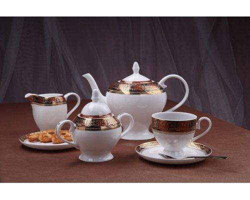 """Чайный сервиз Royal Aurel """"Дерби"""" на 6 персон 15 предметов арт. 126"""