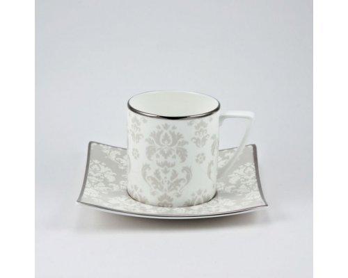 Набор 6 кофейных пар 100мл Париж Royal Bone China