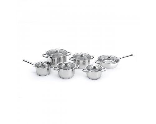 Набор посуды 12пр Vision Premium (со стальными ручками)