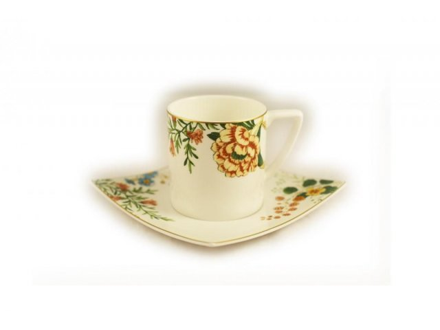 Набор 6 чайных пар Royal Bone China Джардино 200 мл