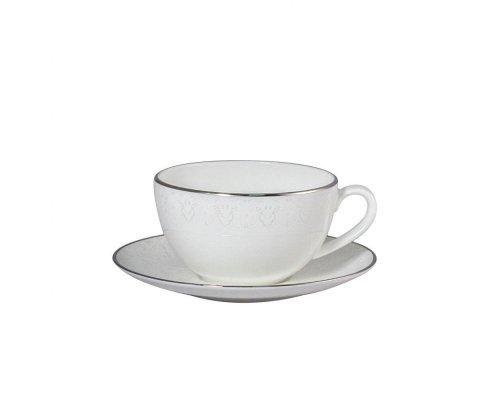 Чашка капуччино 300мл с блюдцем 16см Narumi Вуаль