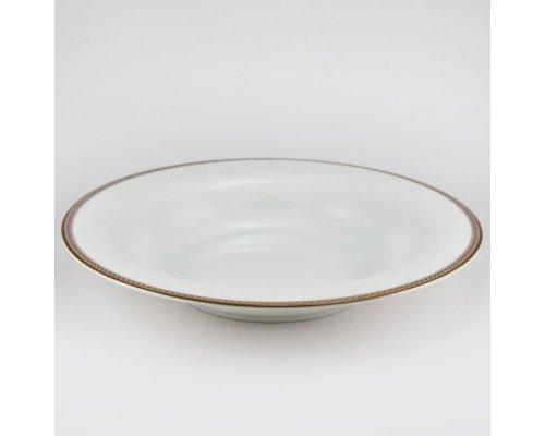 Набор 6 тарелок суповых 24см Золотая вышивка Royal Bone China