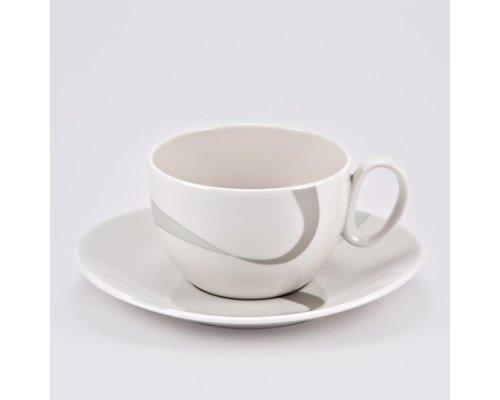 Чашка 390мл с блюдцем 18см Атласная лента Royal Fine China