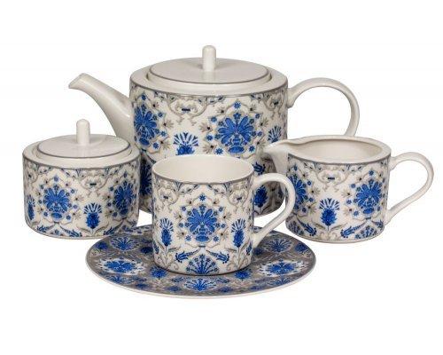 Сервиз чайный Ханнах Royal Fine China на 6 персон 17 предметов