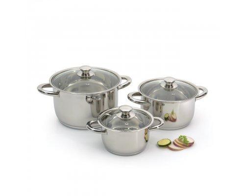 Набор посуды для приготовления Vision Prima (стальные ручки) BergHOFF 6 предметов