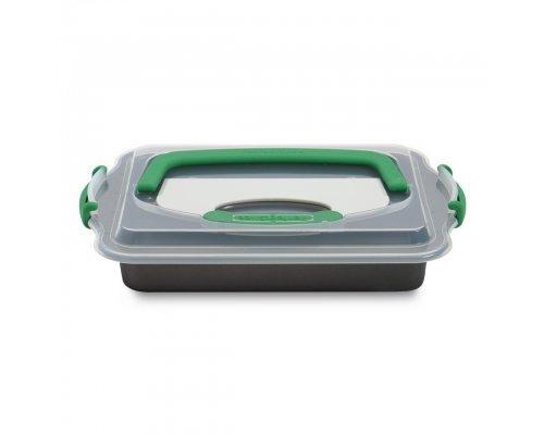 Противень прямоугольный с крышкой и инструментом для нарезания 36*27*5 Perfect Slice