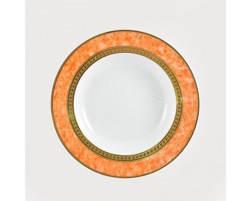 Набор 6 тарелок суповых 23см Персиковый Royal Porcelain