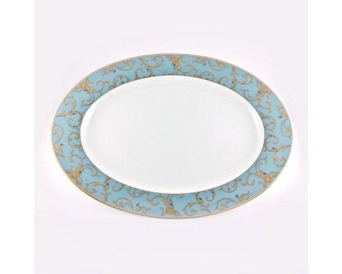 Блюдо овальное 38см Narumi Престиж (Anatolia Blue)