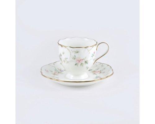 Набор кофейный с квадратными тарелочками Narumi Воспоминание 100 мл на 6 персон 18 предметов
