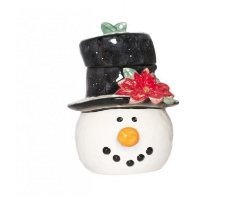 Банка для печенья Снеговик в шляпе Certified International 28 см