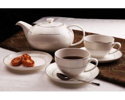 """Чайный сервиз Royal Aurel """"Кружево"""" на 6 персон 13 предметов арт. 111"""