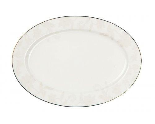 """Блюдо овальное Royal Aurel """"Белый лотос"""" 12""""/31 арт. 909"""