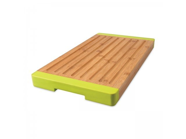 Доска разделочная бамбуковая с силиконовыми накладками 40*22*3см (для хлеба) Studio