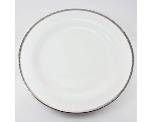 Набор 6 тарелок подстановочных 28см Серебряная вышивка Royal Bone China