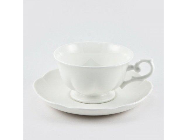 Набор из 6 чайных пар 180мл. White Royal Fine China