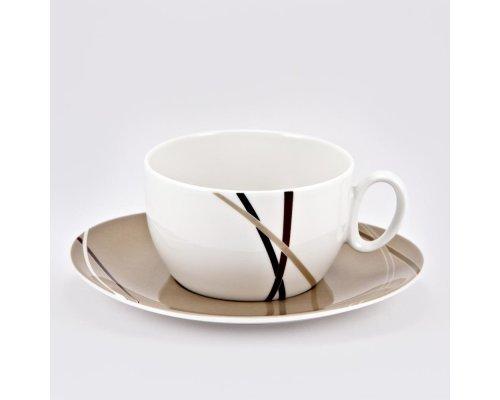 Чашка 390мл с блюдцем 18см Мокко Royal Fine China