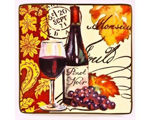 Блюдо квадратное 31см. Вино Certified International
