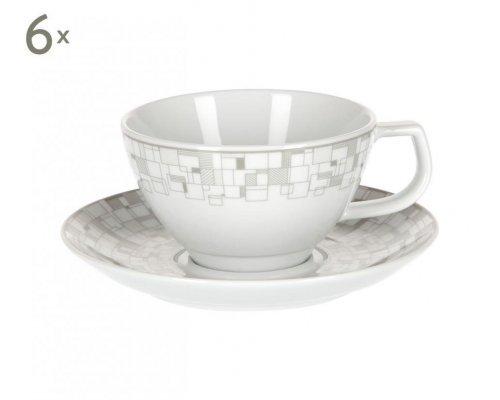 Набор 6 чайных пар 260мл Бахаус Royal Porcelain