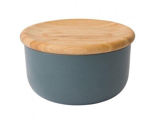 Емкость для хранения сыпучих продуктов с бамбуковой крышкой 15*8см BergHOFF Leo