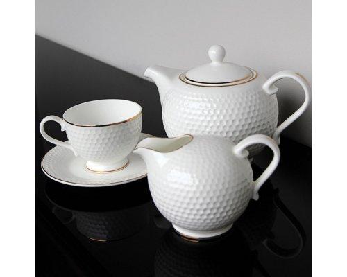 """Чайный сервиз Royal Aurel """"Гольф"""" на 6 персон 15 предметов арт. 101"""