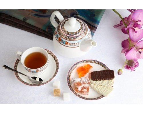 """Чайный сервиз Royal Aurel """"Гермес"""" на 6 персон 13 предметов арт.142"""