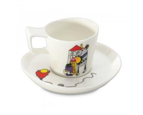 Набор 2шт чашек для эспрессо с блюдцем 0,08л Eclipse ornament