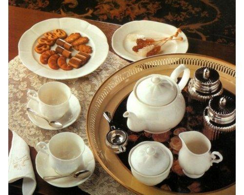 Сервиз чайный White Royal Fine China на 6 персон 17 предметов