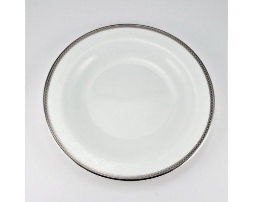 Набор 6 тарелок десертных 21см Серебряная вышивка Royal Bone China