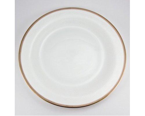 Набор 6 тарелок подстановочных 28см Золотая вышивка Royal Bone China