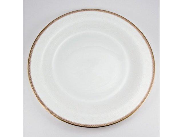 Набор 6 тарелок подстановочных 28 см Золотая вышивка Royal Bone China