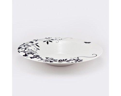 Набор 6 тарелок суповых 24см Неверланд чёрныйт Royal Bone China