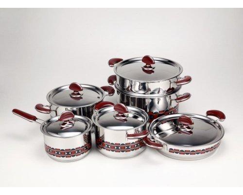 Набор посуды для приготовления EX Pot Z & H 6 предметов (4 вида кастрюль ковшик дуршлаг-вставка)