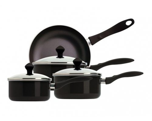 Набор посуды для приготовления Престиж Meyer Infinity Сirculon 4 предмета (3 вида ковшей с крышками:16см/1.4л 18см/1.9л 20см/2.8л и сковорода 24см)